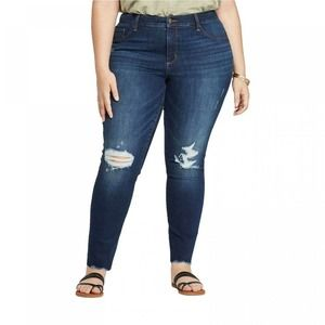 Universal Thread Mid-Rise Distressed Jeggings